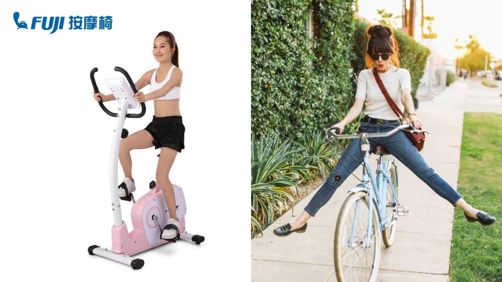 由FUJI按摩椅所推出的室內健身車當然會搭配人體工學座椅,可以自行調整到最舒服的角度,握把能夠檢測心跳,更重要的是粉紅色和蘋果綠擺在家裡超可愛!