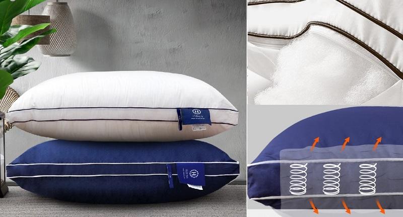 ▲Hilton五星級純棉立體銀離子抑菌獨立筒枕1入,即日起到3月底,特價599。趁特價活動買一波,從此高枕無憂!(圖片來源:Yahoo購物中心)