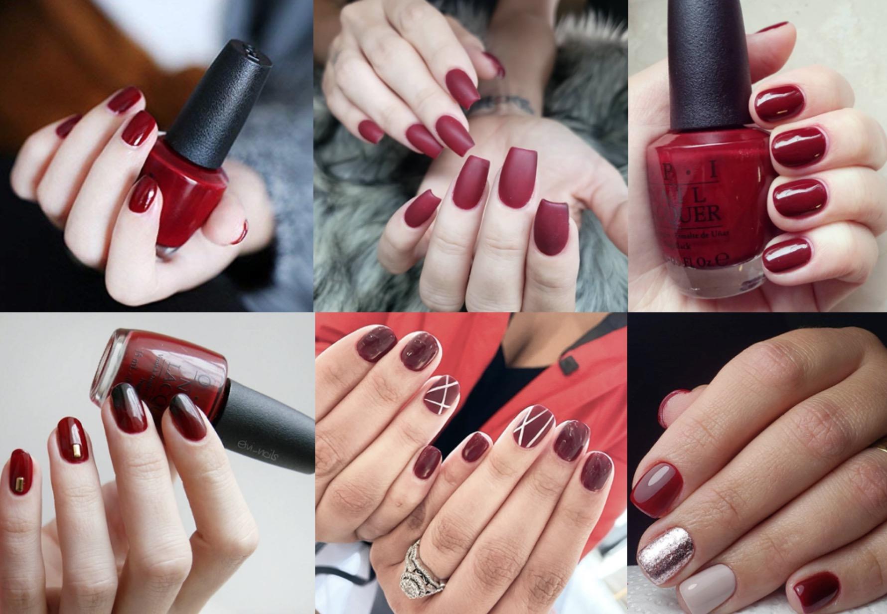 想要提升整體指尖質感,就非「藍調醇紅」莫屬!介於正紅色與酒紅色調之間,帶有深棕色的血色調,能為指尖增添一股勾魂神秘的女人味
