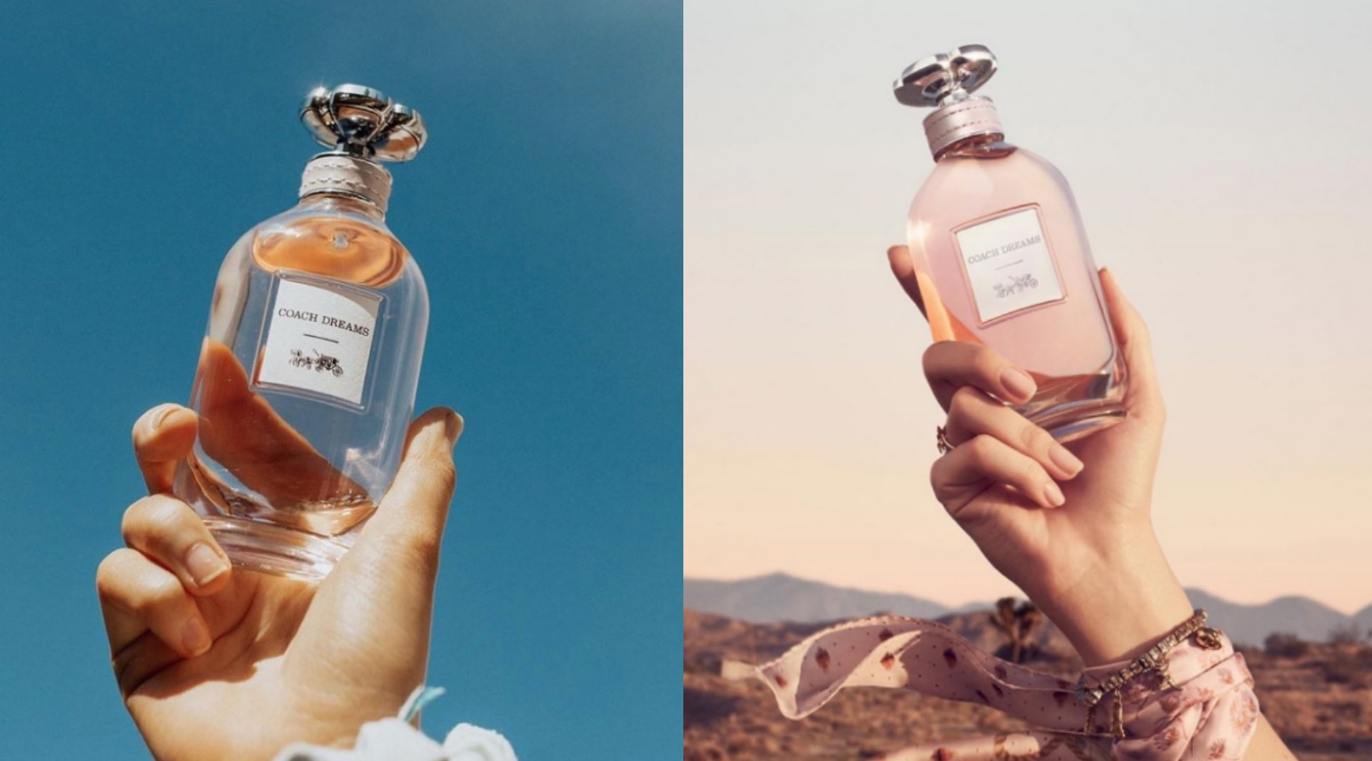 修長的瓶身象徵公路之旅,維持COACH香氛一貫的無瓶蓋設計