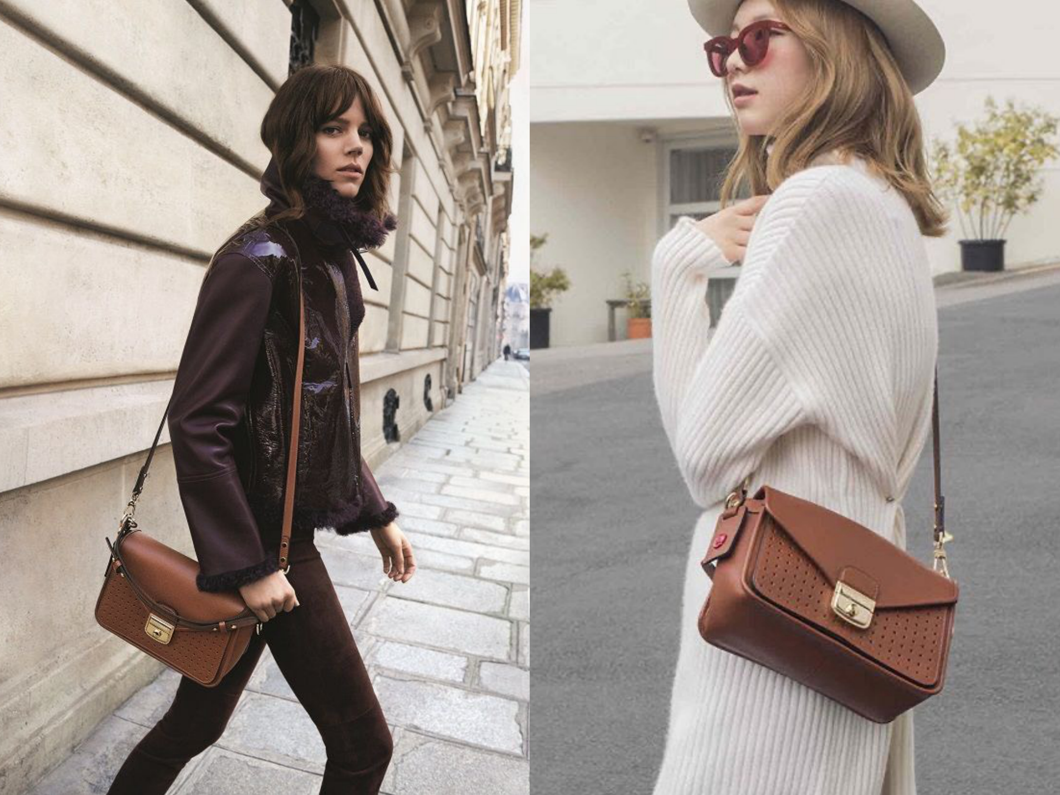 這款Mademoiselle包設計富有層次感與線條感,將優雅與休閒巧妙結合。