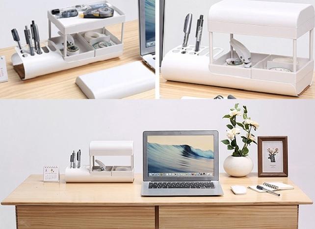 ▲有趣的文具收納盒,可隨心所欲組合,書桌從此不亂還變得有氣質。(圖片來源:Yahoo購物中心)