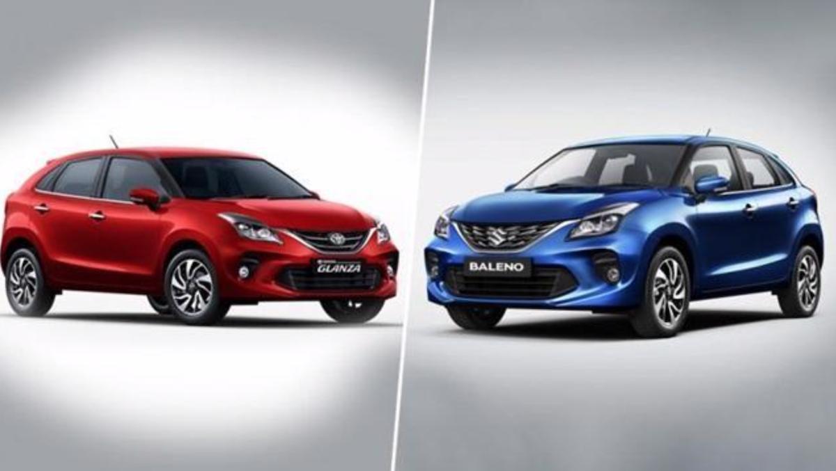 左為 Toyota Glanza、右為 Suzuki Baleno,是雙方新車交流第一個計劃。