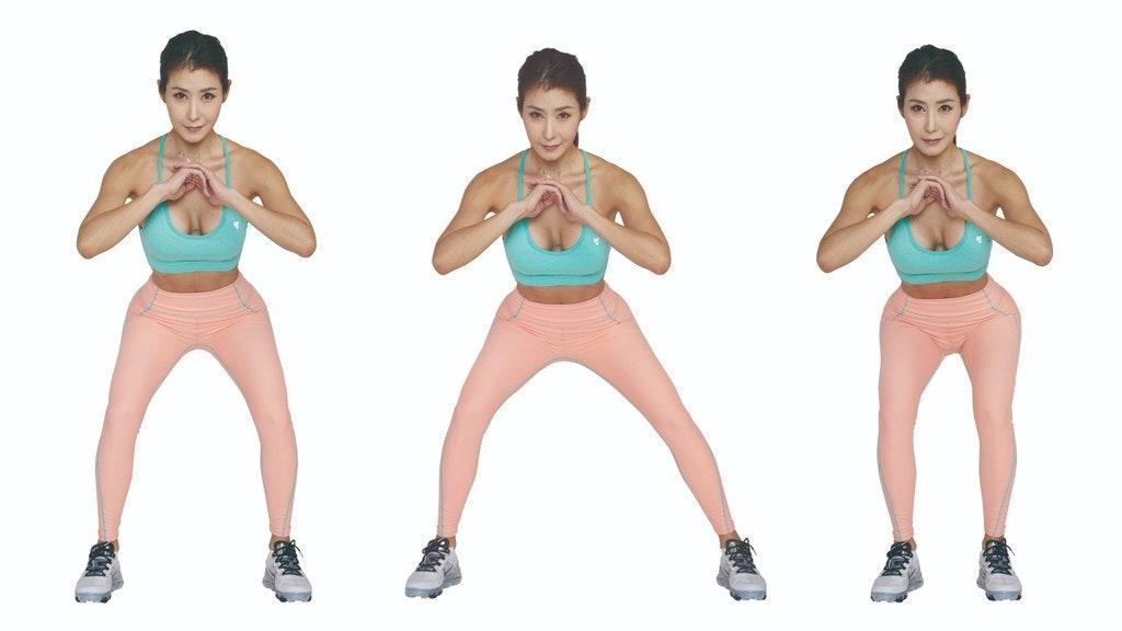 核心必須用力收緊,不要晃動,這樣才能夠專注在要運動的部位。