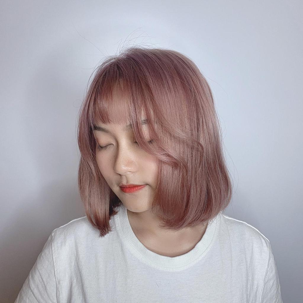 奶茶可可搭配櫻花霧粉色,乾燥花髮色簡直仙女等級