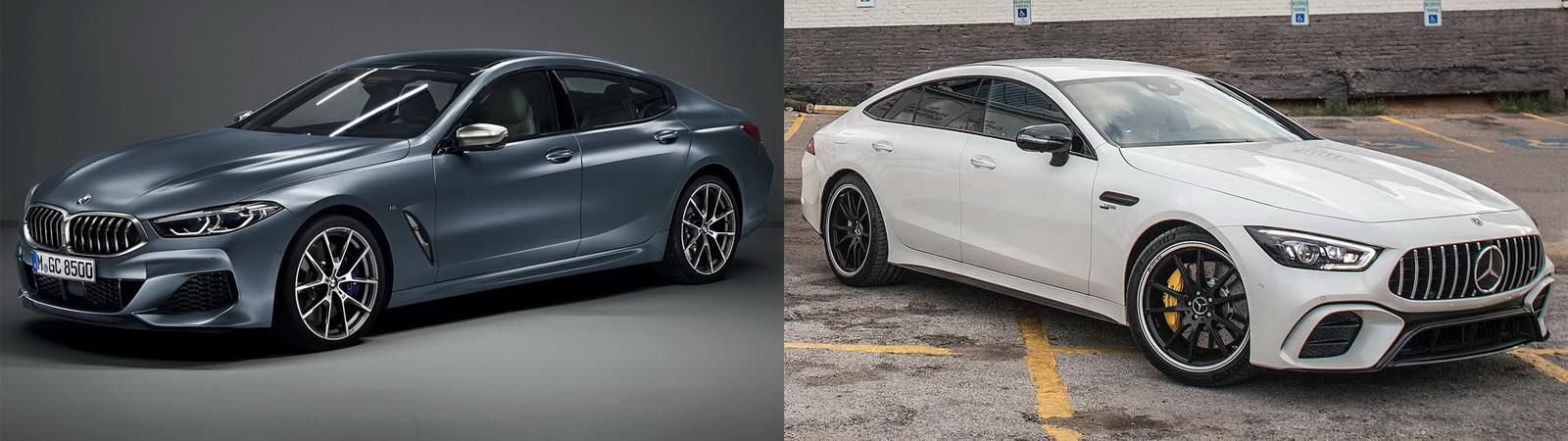 圖/BMW Gran Coupe M850i與M-Benz AMG GT Coupe 53 豪華四門跑車之高手過招。