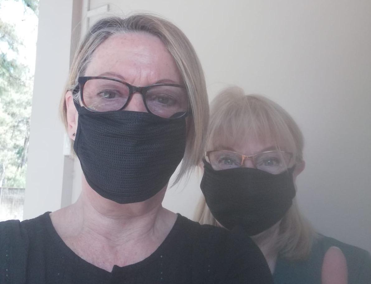 British women stuck in Delhi
