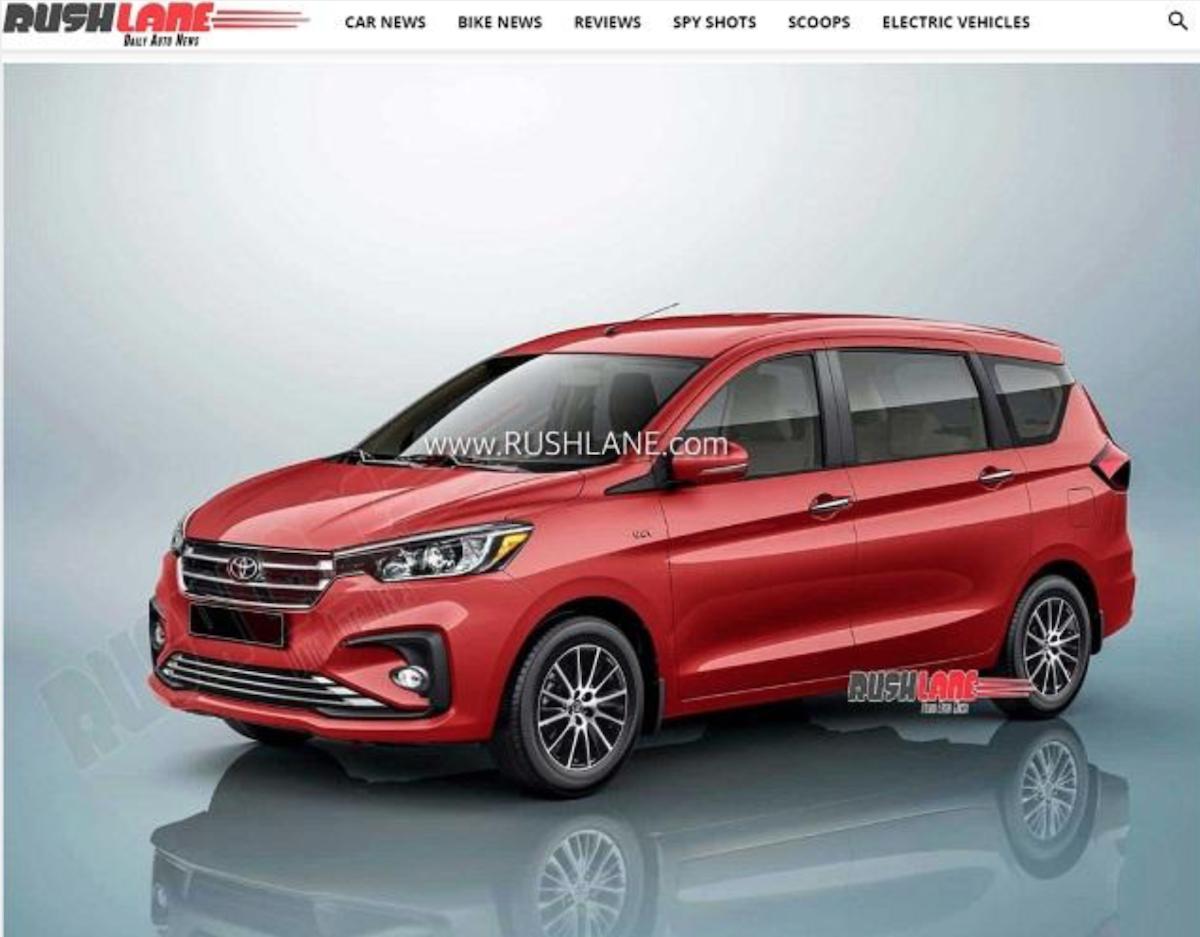 圖為 Toyota 7 人 MPV 預想圖,以 Suzuki Ertiga 為基礎開發。