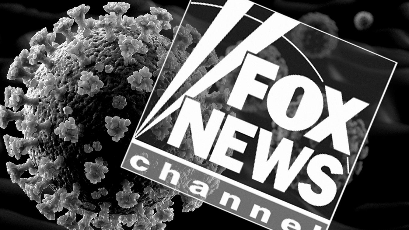 Coronavirus and Fox News. (Photo illustration: Yahoo News; photo: Getty Images)