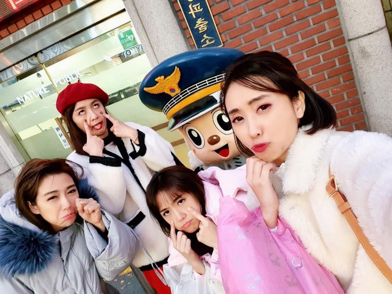 ▲蔡逸帆的皮夾被竊,四人嚇得衝到韓國派出所報案。