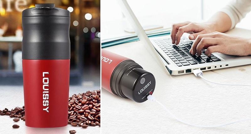 ▲研磨咖啡族必備,運用USB充電,可自動研磨咖啡豆,手沖、過濾一杯搞定,在家工作、外出旅行都好用。(圖片來源:Yahoo購物中心)