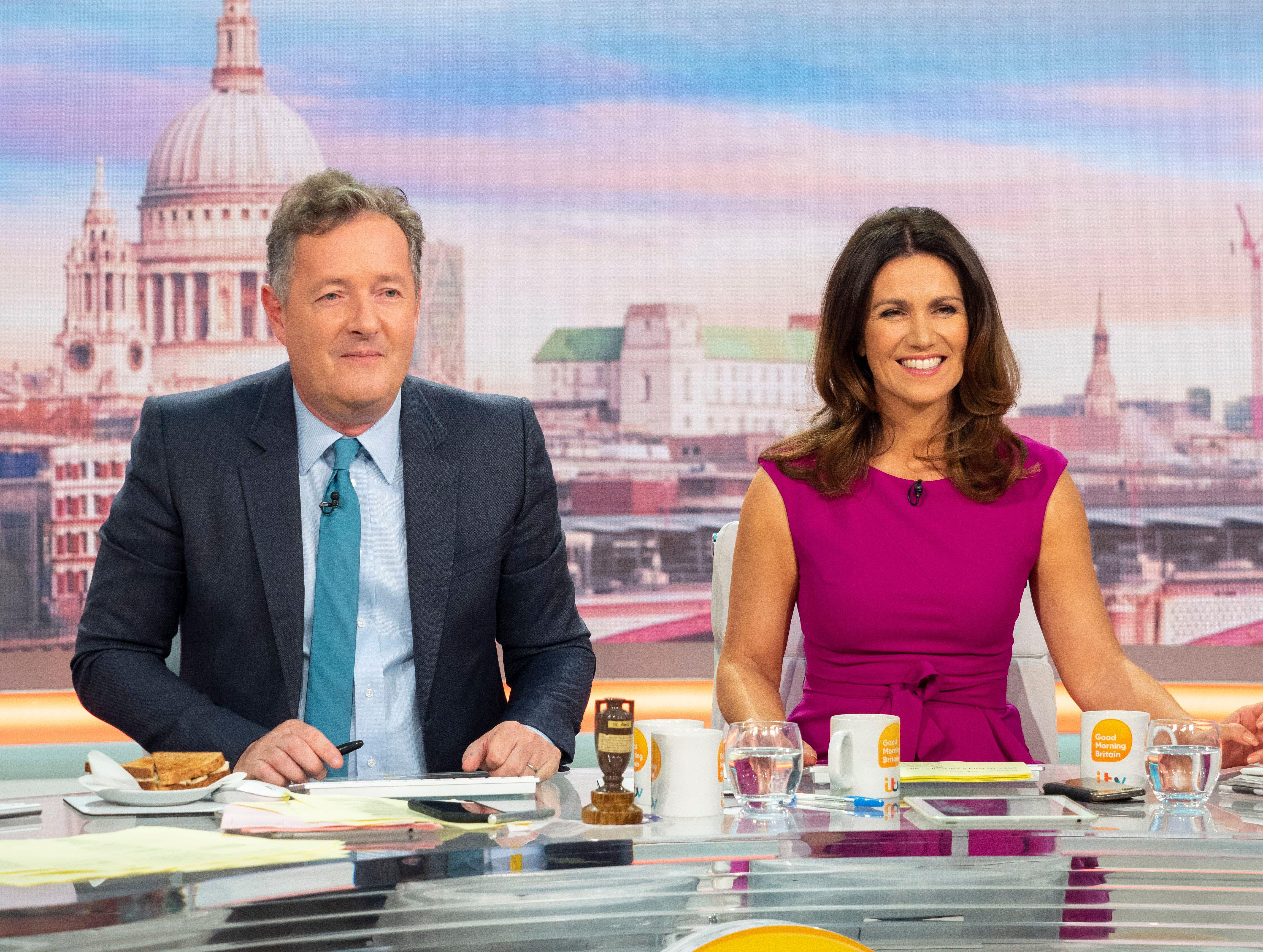 Piers Morgan even shocked GMB co-host Susanna Reid with his behaviour (ITV)