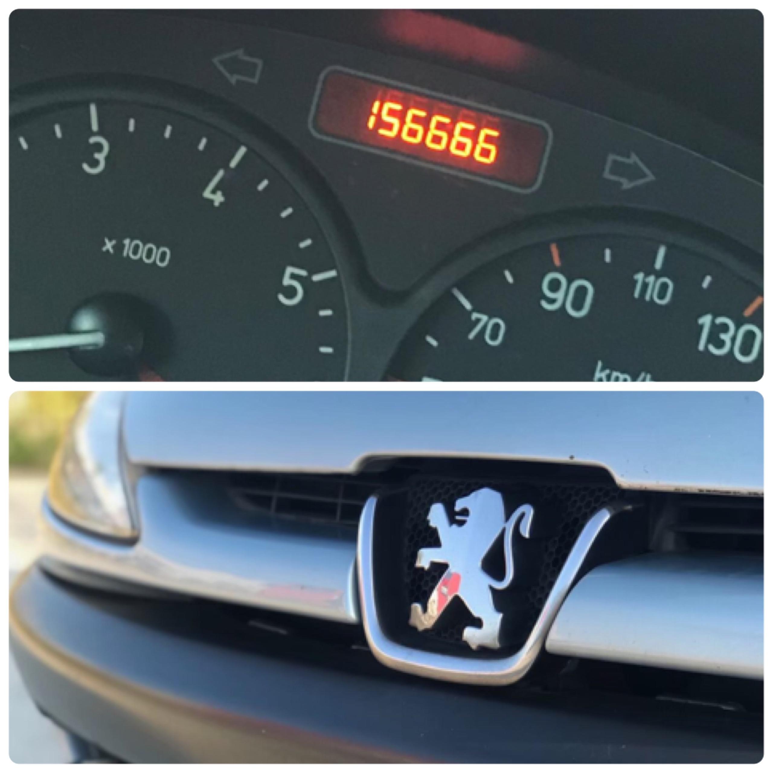 ▲張耀中的Peugeot 206中古車,雖然里程數較高,但是外觀內裝,整體車況都不錯,購入後沒什麼問題。