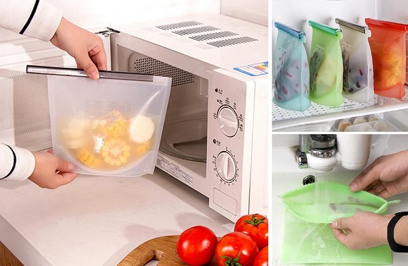▲食品級白金矽膠食物袋除了冰食材也可微波,隨身帶一個買外食更環保。原價999,活動價830,一起來愛地球。(圖片來源:Yahoo購物中心)