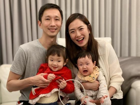 ▲楊千霈一家四口超幸福。