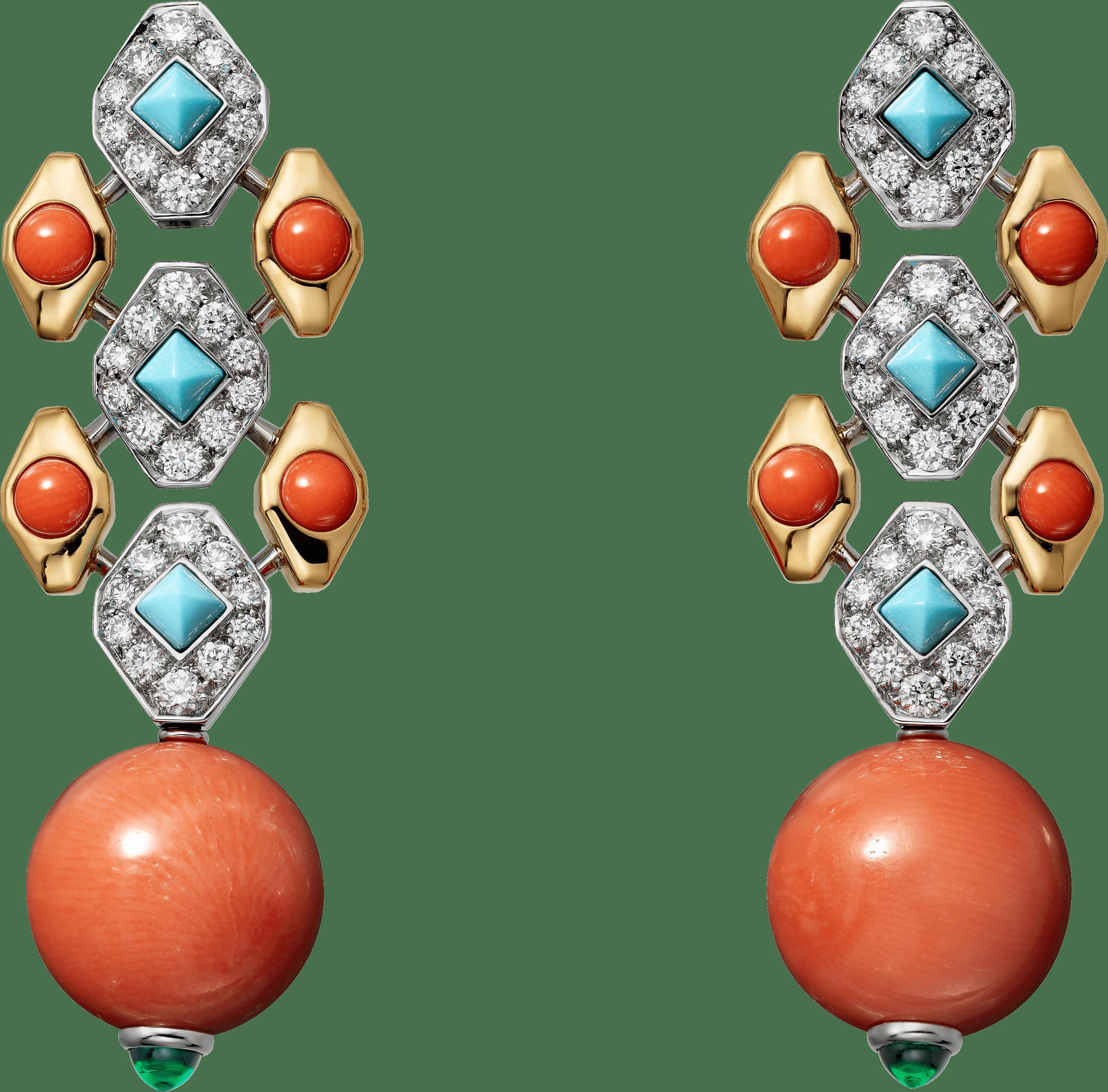FARANDA珊瑚耳環