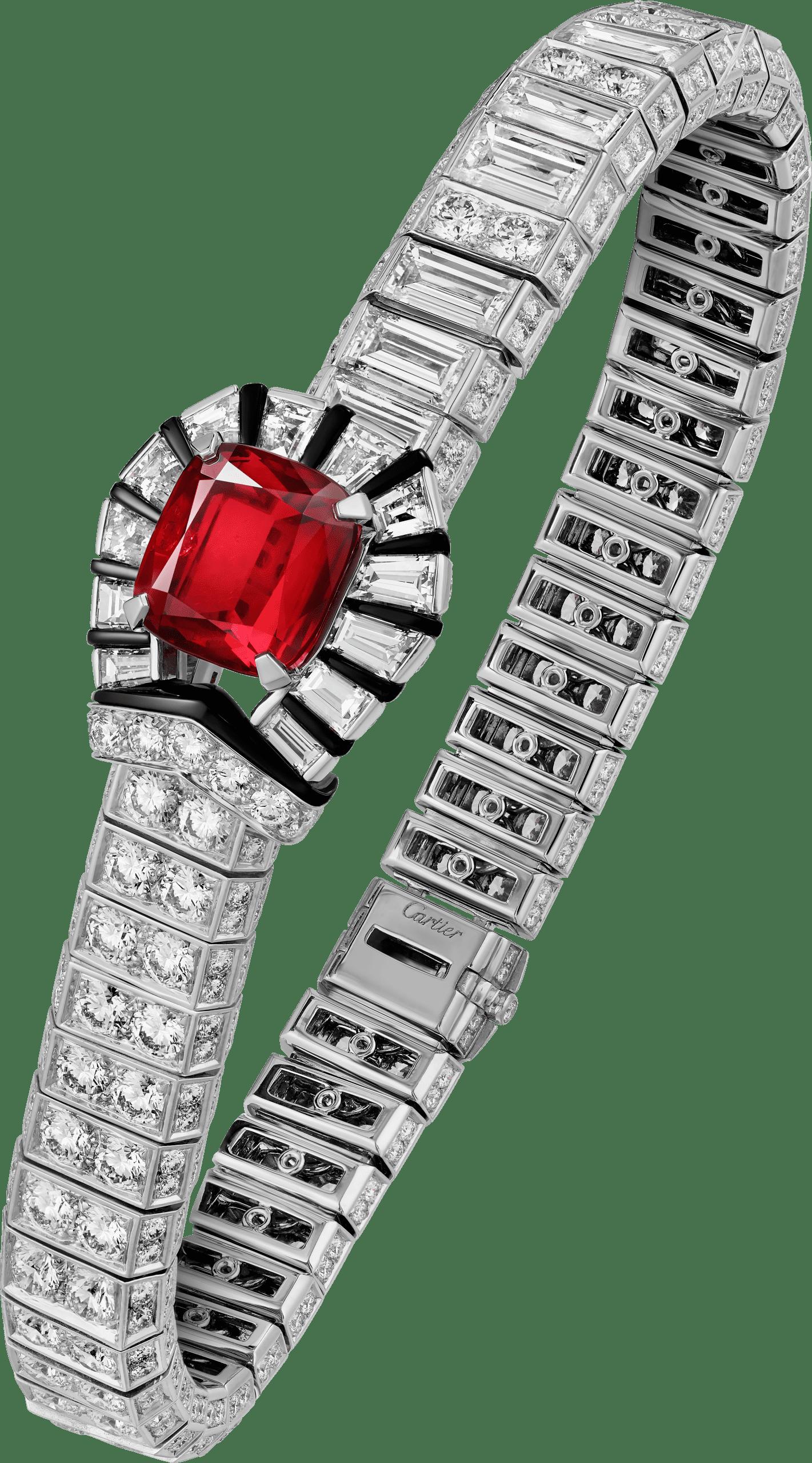 RED BOUCLE (紅色搭扣) 紅寶石手環