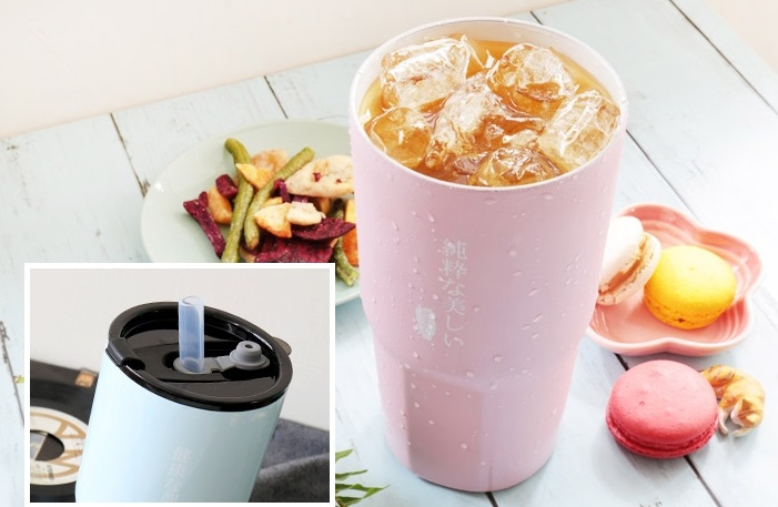 ▲陶瓷內層不易沾附味道,自帶潔淨效果,作為外帶飲料杯非常適合。原價699,活動價581,買起來!(圖片來源:Yahoo購物中心)