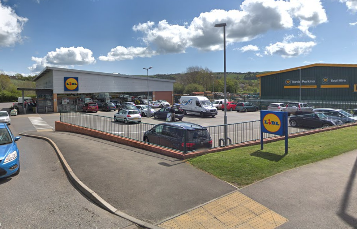 The incident occurred in a Lidl supermarket in Bridgend, Wales. (Google)