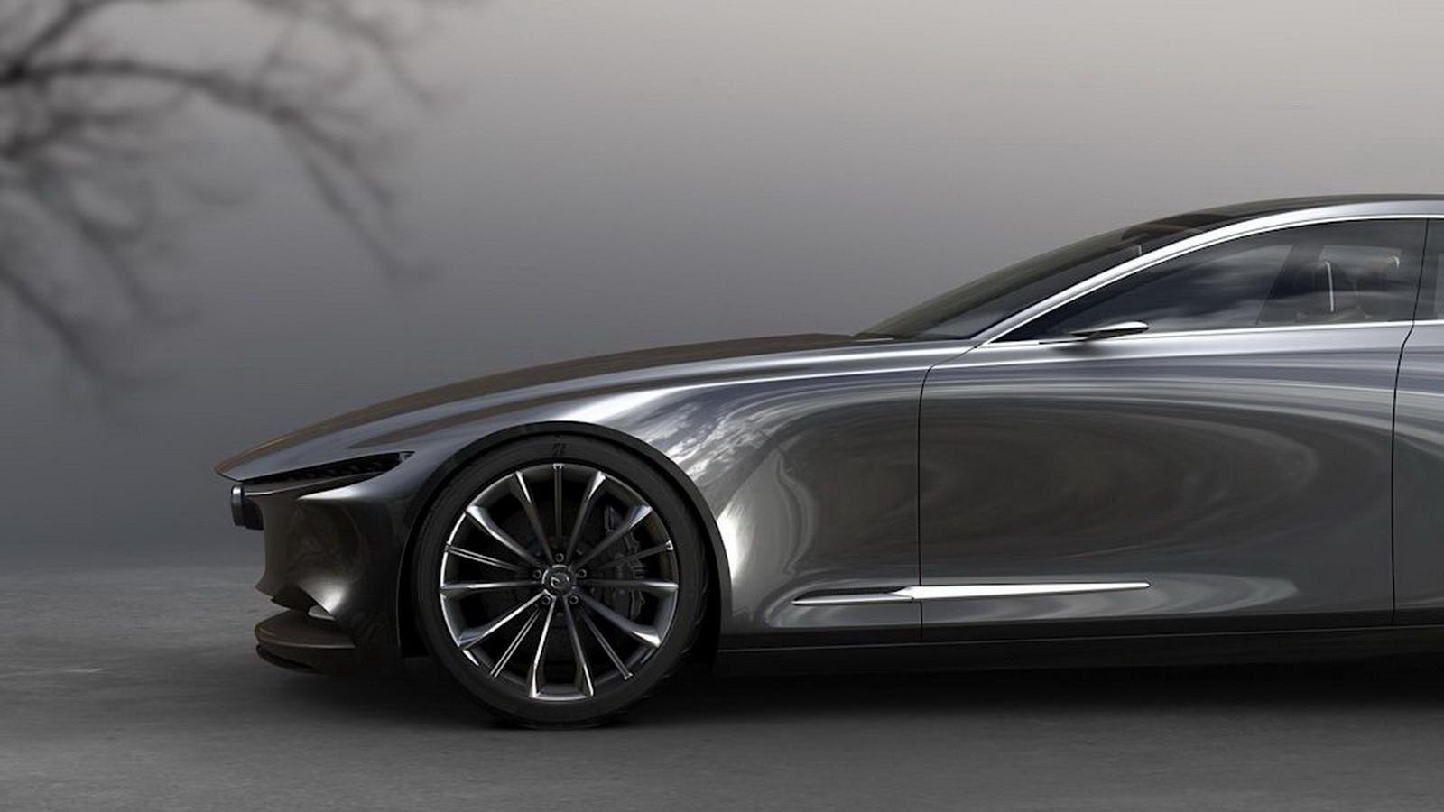 圖/下一代Mazda6車身鈑金靈感來自於2017年東京車展首度亮相的Mazda Vision Coupe概念車。