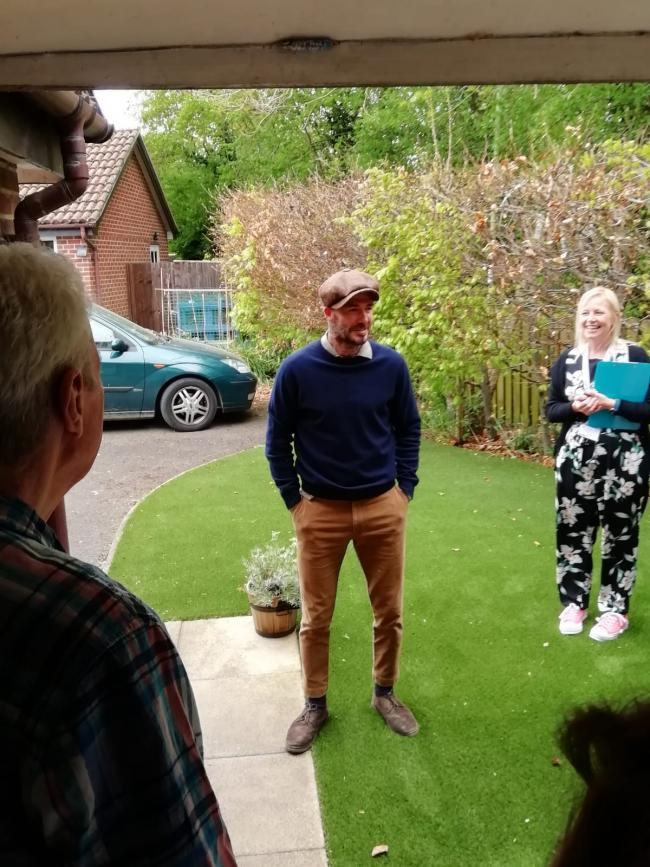 David Beckham made a surprise visit to a home in Oxfordshire. (David Roberts/Oxford Mail)