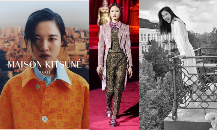 不僅登上Miu Miu、Dolce & Gabanna、Emporio Armani等大秀,更成為法國潮牌Maison Kitsuné 2020春夏廣告上的新面孔
