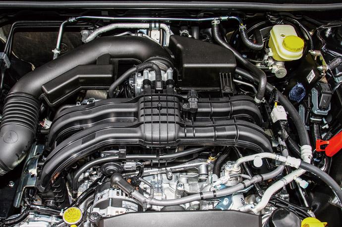 採1.6升水平對臥四缸自然進氣引擎,最大動力達114ps/15.3kgm。