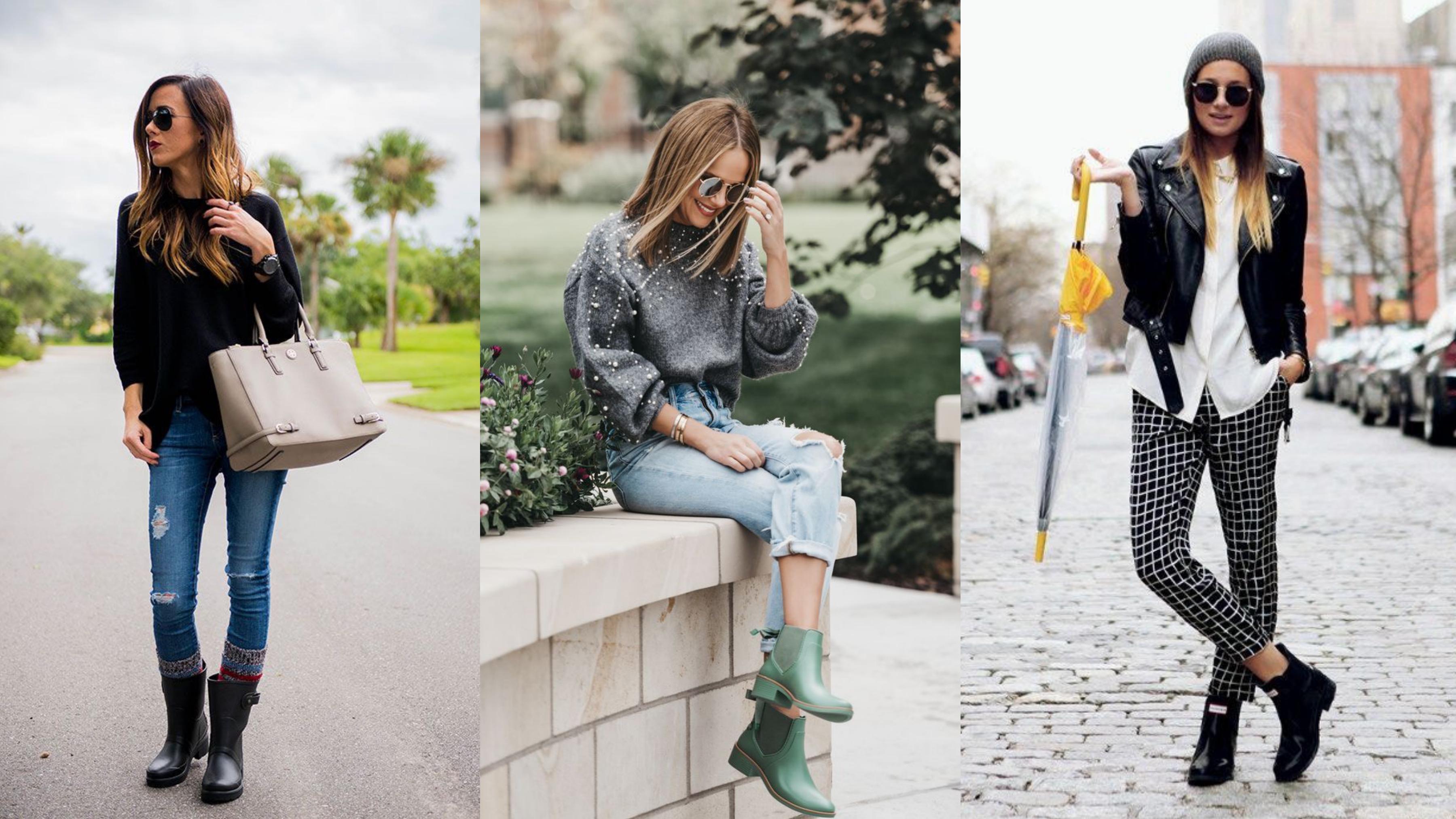 精緻系女孩必收!下雨天也不怕醜醜出門,高顏值雨靴穿搭,套上就是100%回頭率
