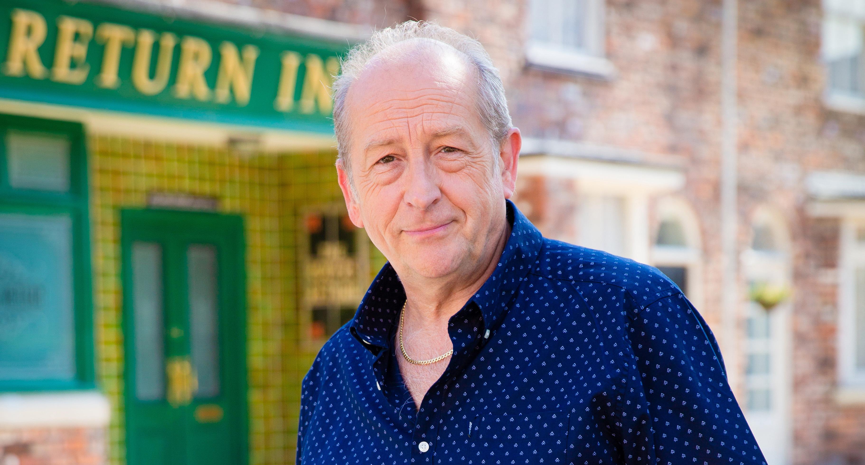 Ian Bartholomew plays Geoff Metcalfe in Corrie (ITV)