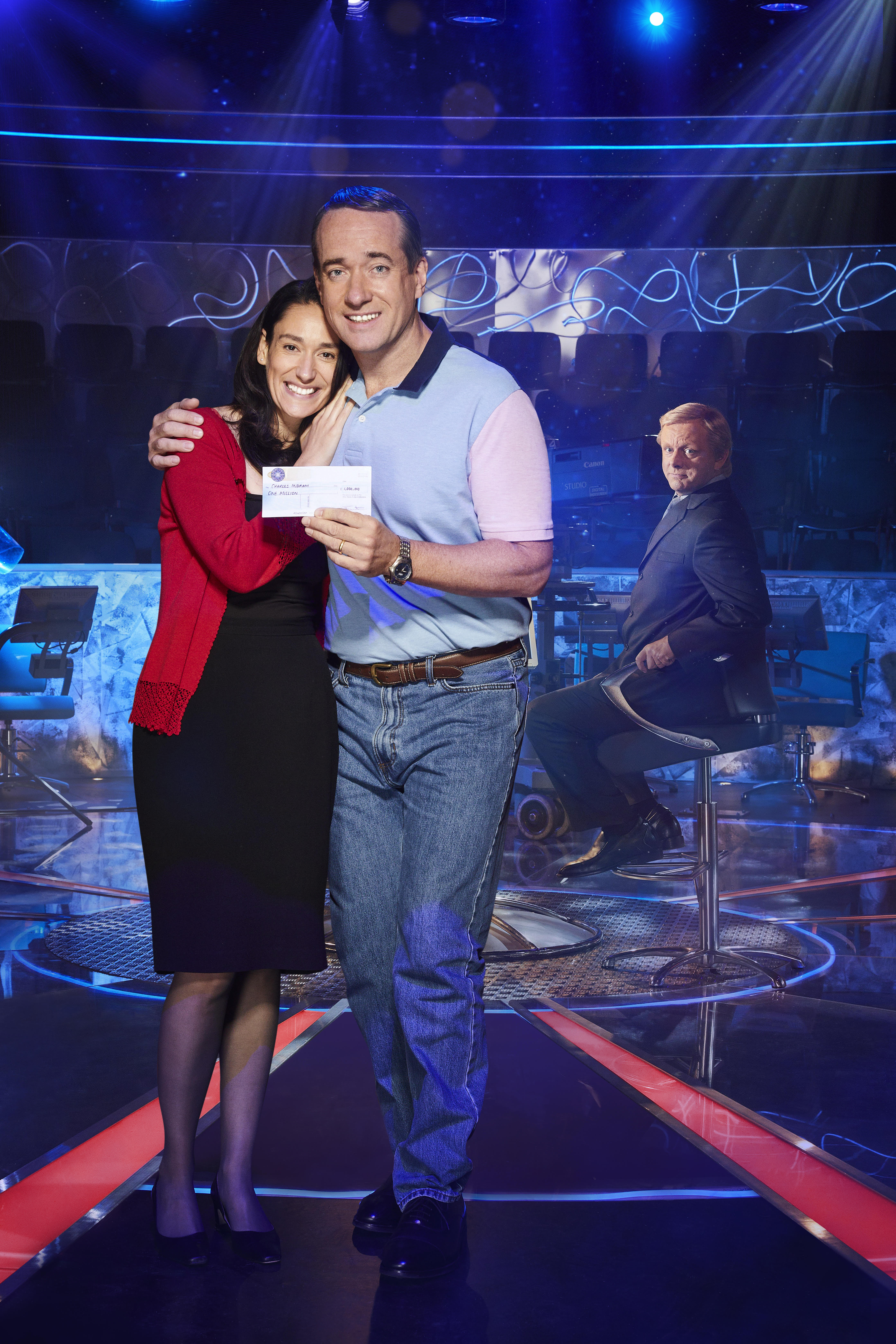 Sian Clifford and Matthew Macfayden are starring as Diana and Charles Ingram in 'Quiz'. (Leftbank Pictures/ITV)