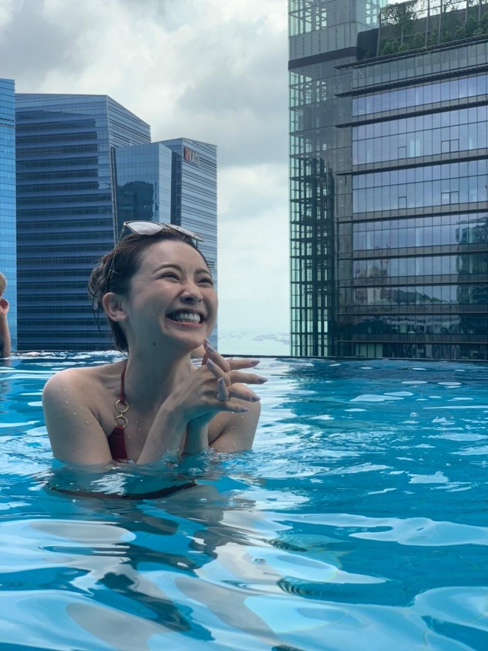 ▲整趟旅遊採隨時自由行的吳婉君,在選擇飯店上,一定要有游泳池。