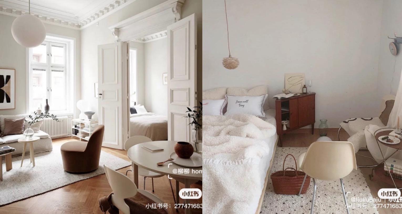 好想住在ins風格的家!奶油白搭配奶茶色、原木色就是法式慵懶風啊