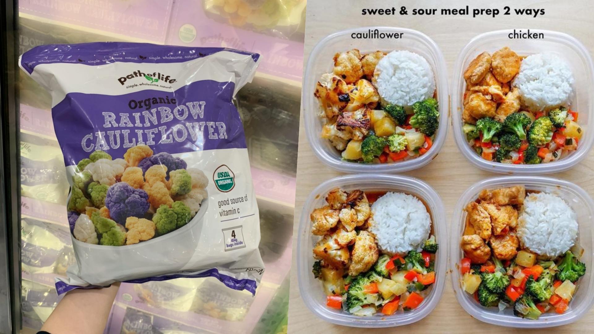 冷凍有機花椰菜,顏色鮮豔好看的花椰菜是減肥便當不能缺少的神物!