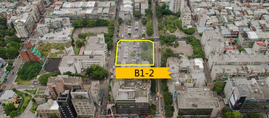 ▲兒福B1-2基地位於忠孝東路五段275巷以東、虎林街120巷以南、松信路以西所圍成街廓。(國家住都中心提供)