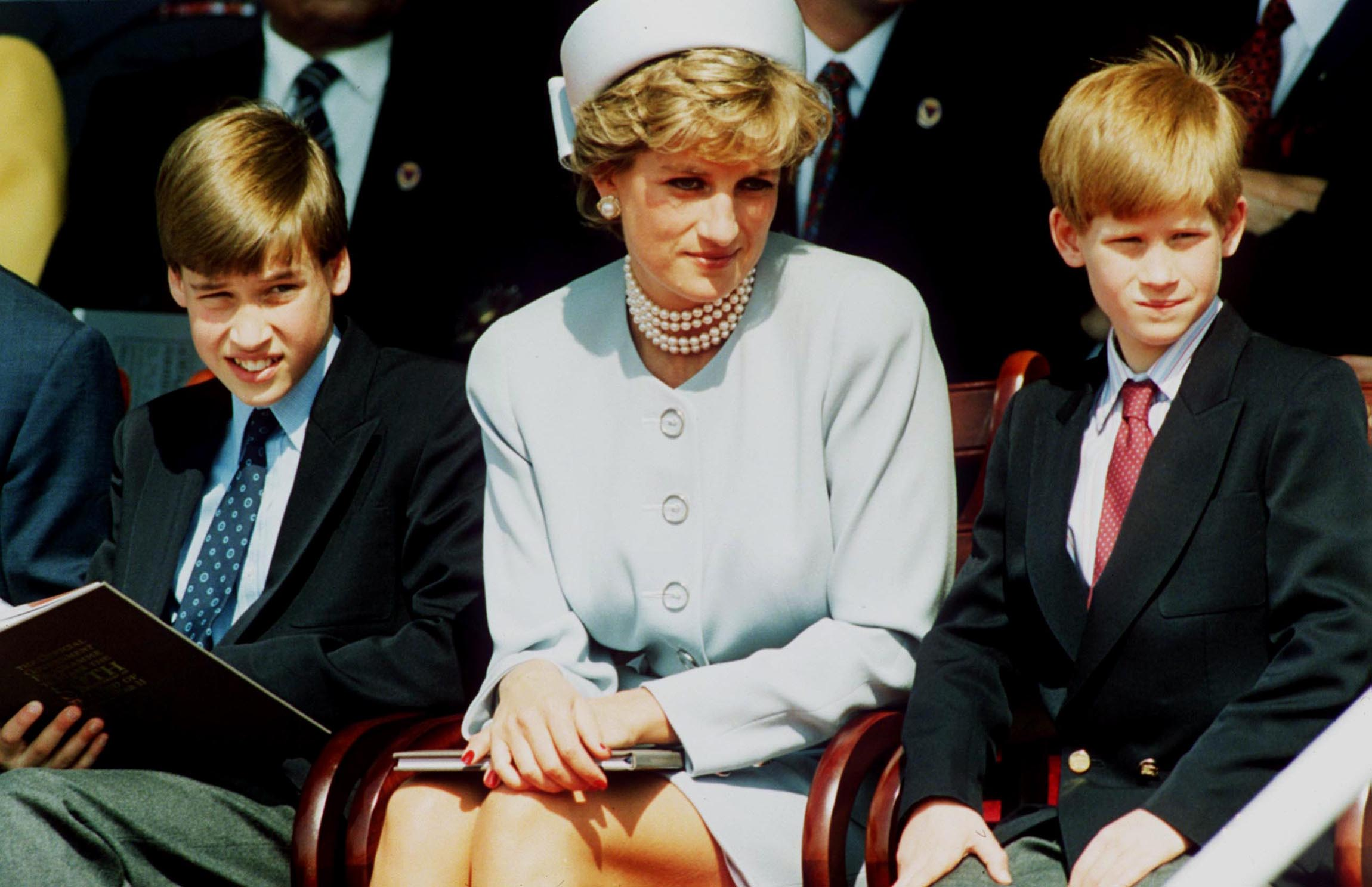 The royal father-of-three was 15 when he lost his mum (the pair pictured in 1995 with Prince Harry) (Getty Images)
