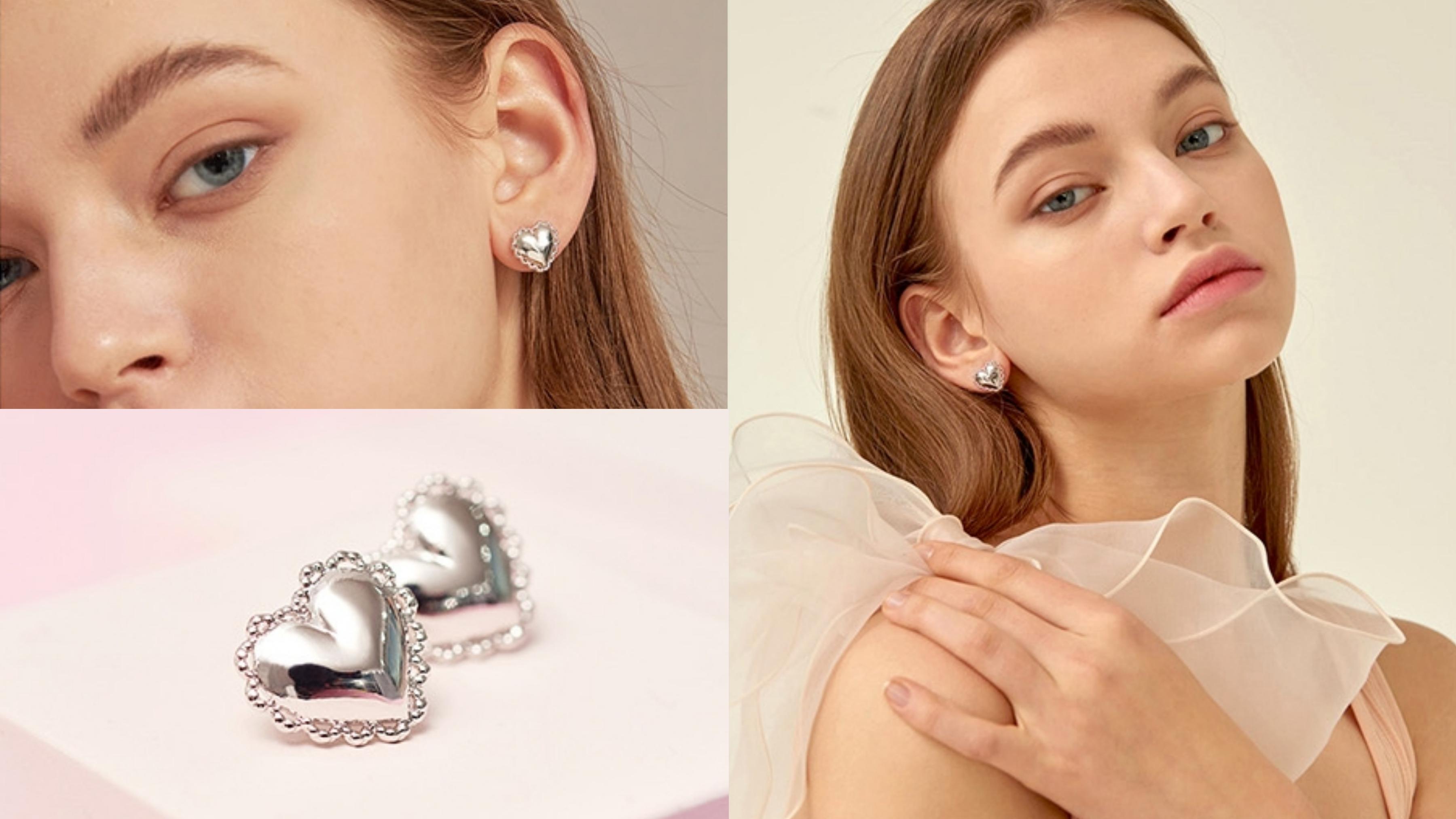 愛心+小小手掌設計耳環,輕巧細緻的造型,非常百搭實戴