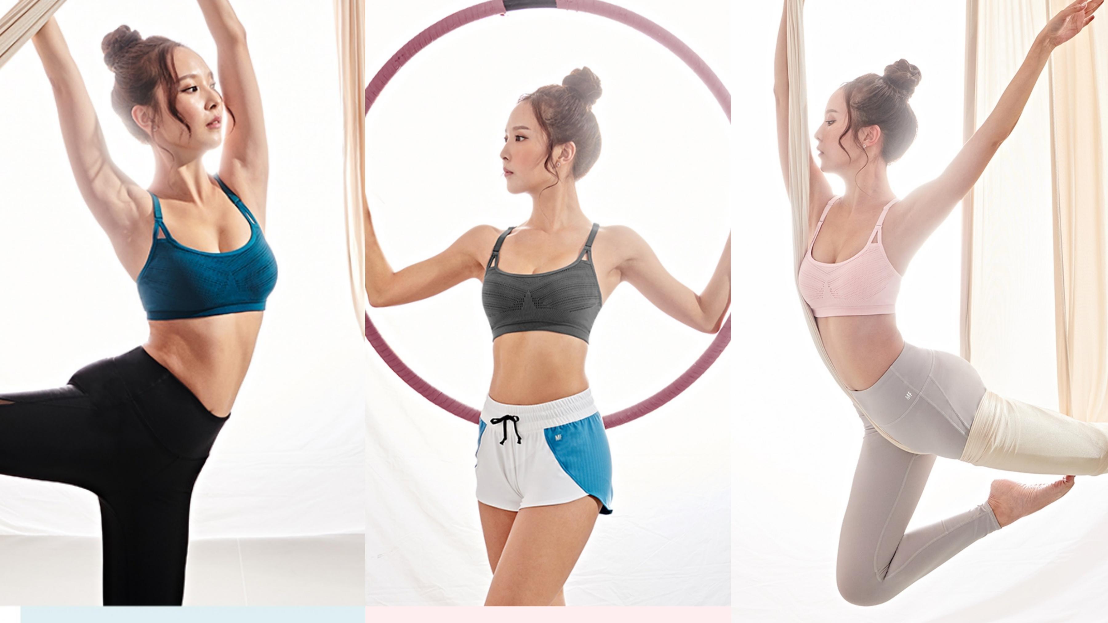 30度固定罩杯襯托完美胸型弧度,加強吸濕排汗,給妳想要的舒適與胸型