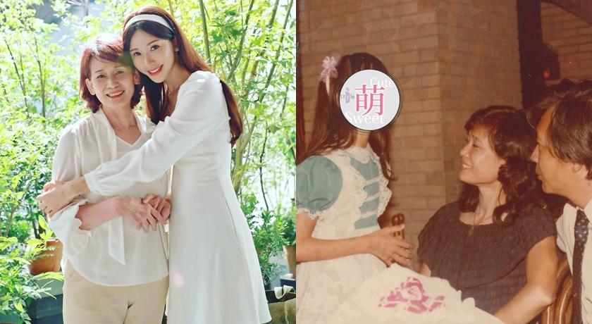母親節林志玲曬出母女合照,表達對媽媽的愛。