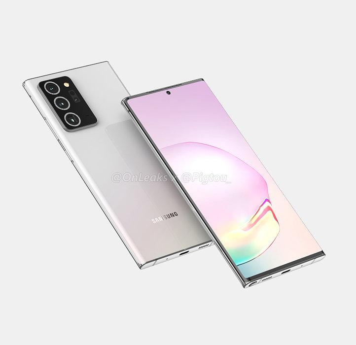 Galaxy Note 20+予測CG