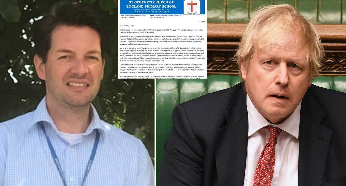 Howard Fisher, left, has written a letter to parents about his fears of reopening schools to early, while the government could have some year groups go back from 1 June.