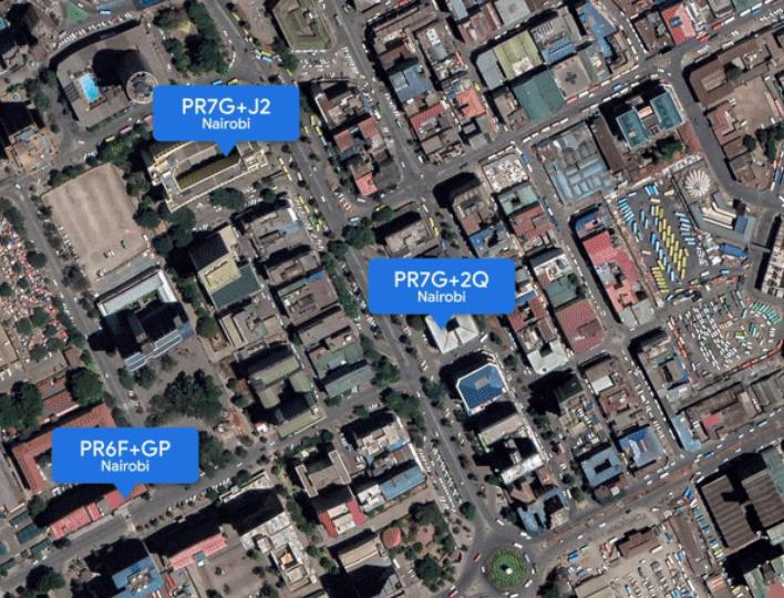 Google Map Plus Codes