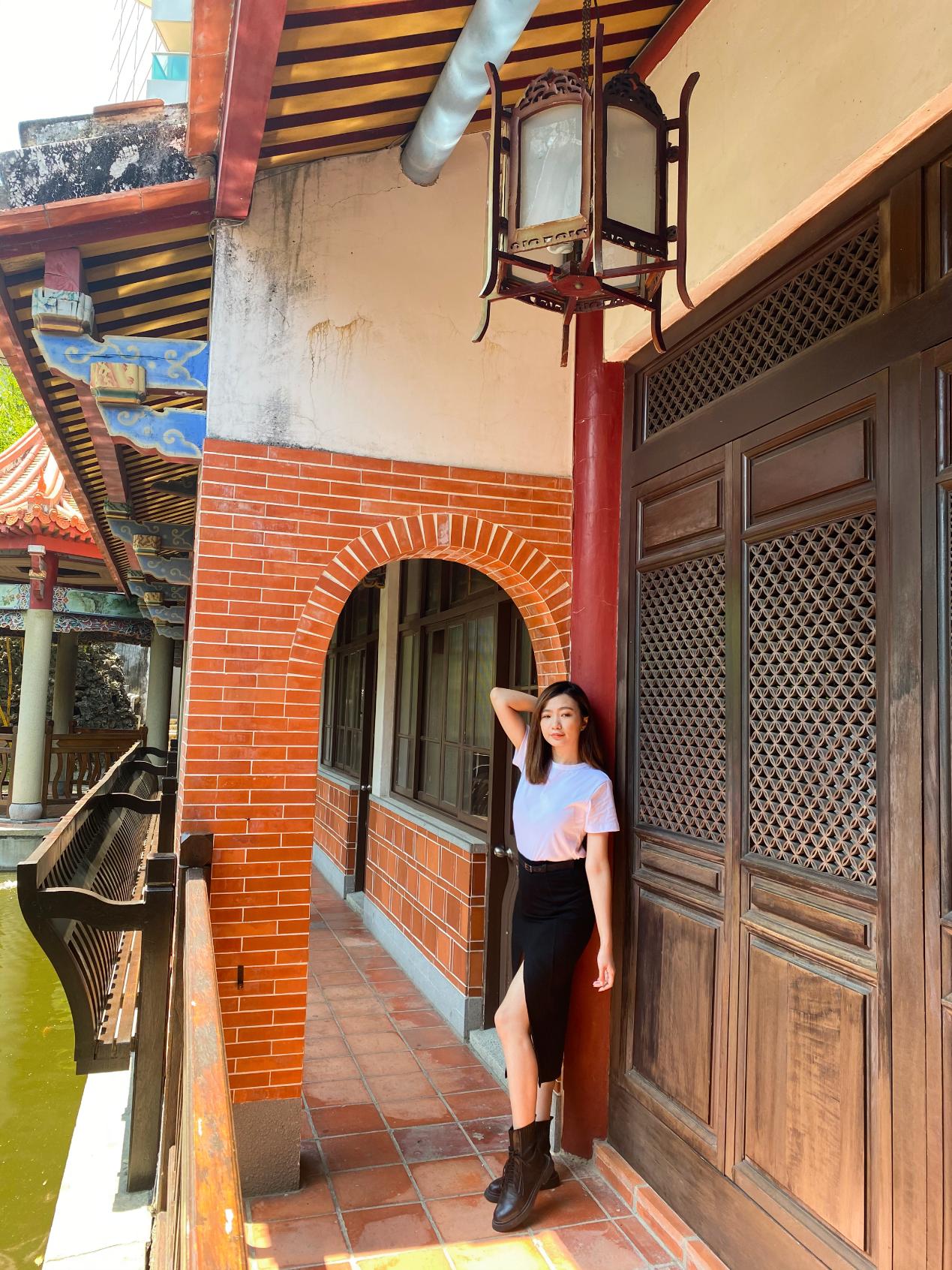 ▲吳園內有中式風格庭園,一旁還有日式木屋,走一趟能拍出三種風格美照。
