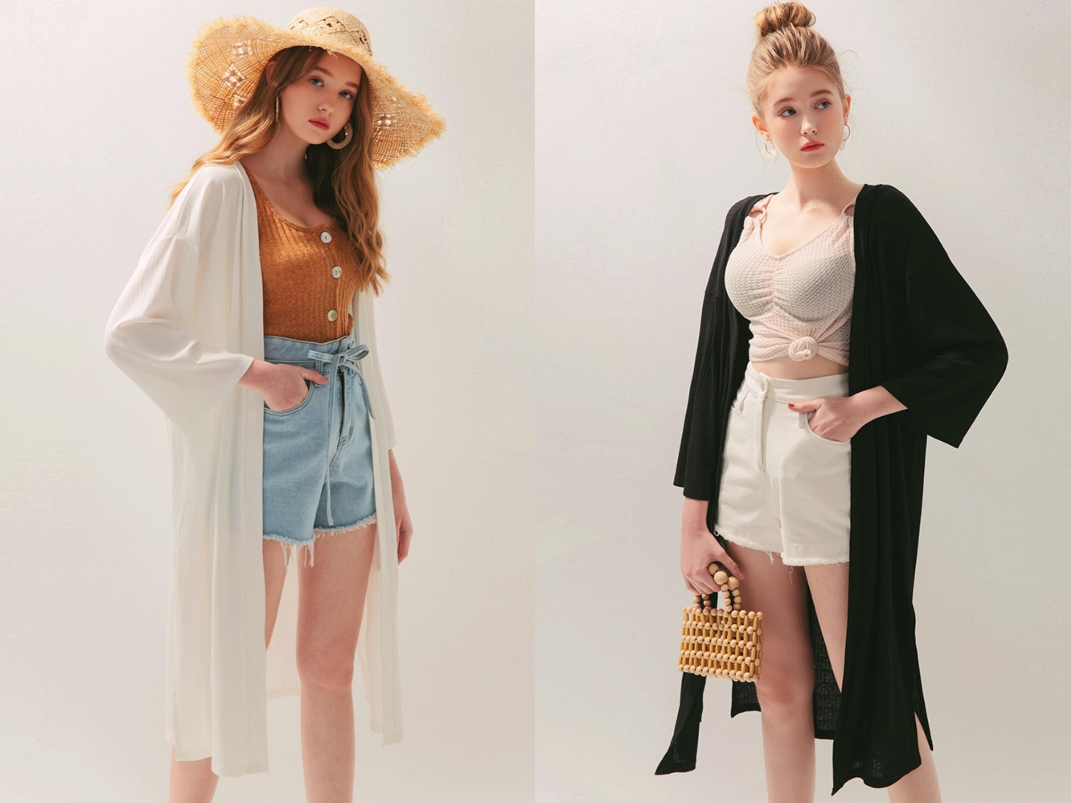 輕薄的材質,穿上涼爽舒適,非常適合春夏穿搭