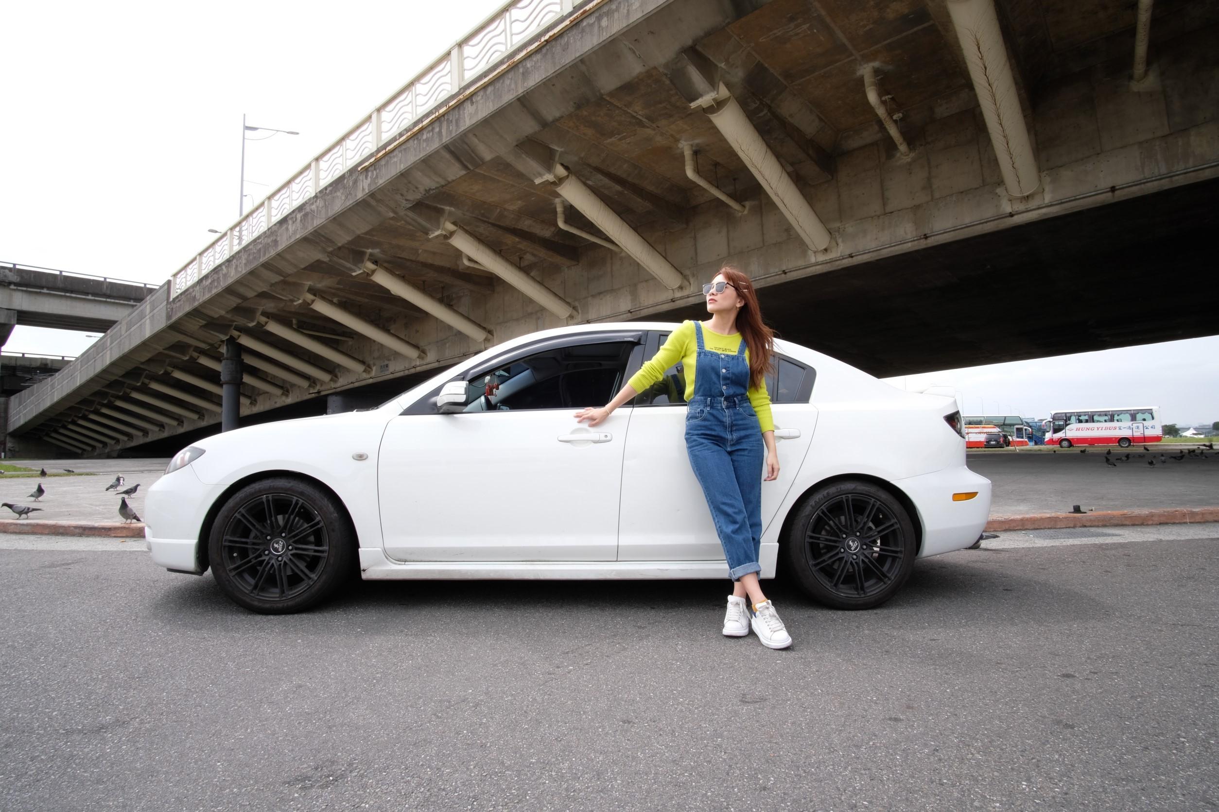 ▲雖然愛車的避震器鋁圈都經過改裝,小優還是很怕搭到避震器損壞的車,摳摳摳的聲響,和不舒適的乘坐感,讓她無法接受。