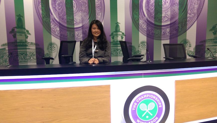 假裝自己是網球女單冠軍受訪一波(圖片來源:李珮宇)