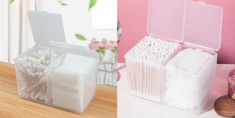 可放置棉花棒跟化妝棉,要拿來收納小飾品也很OK