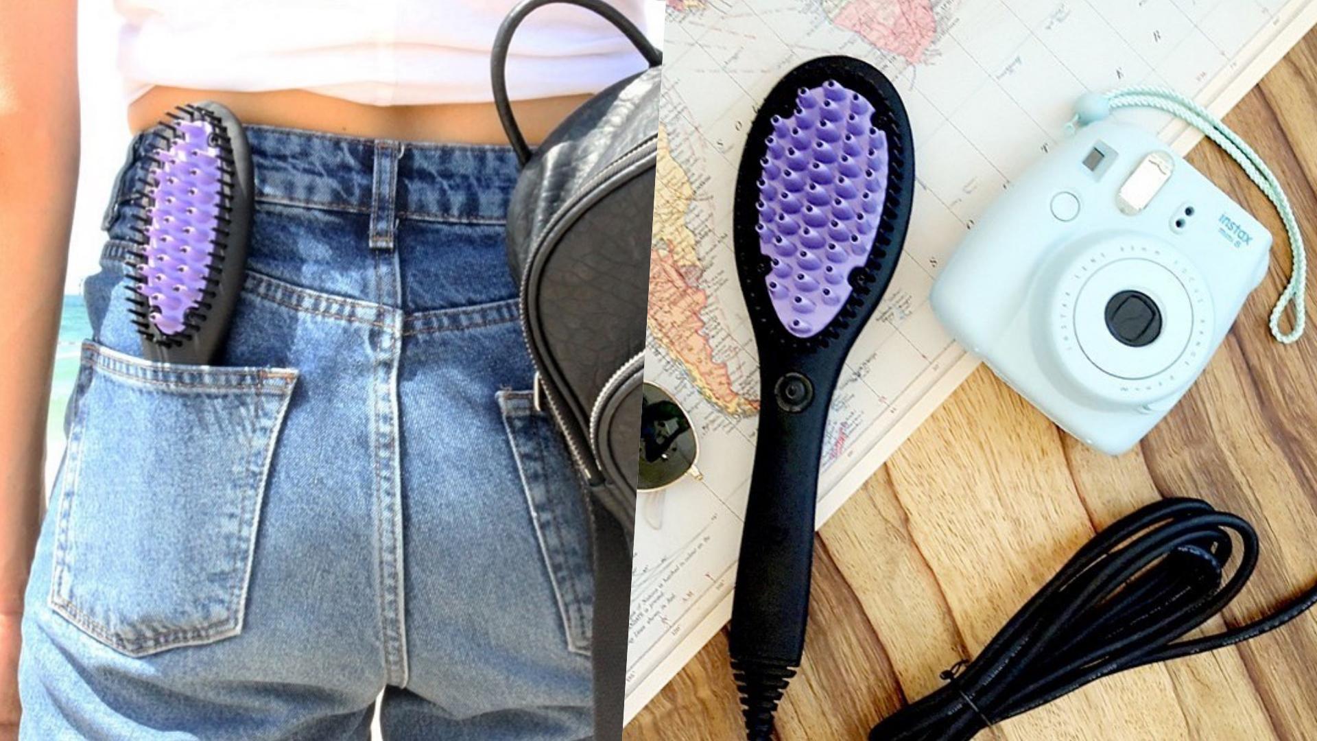 輕巧的體積造型方便攜帶,再也不用擔心出去玩一頭亂髮!