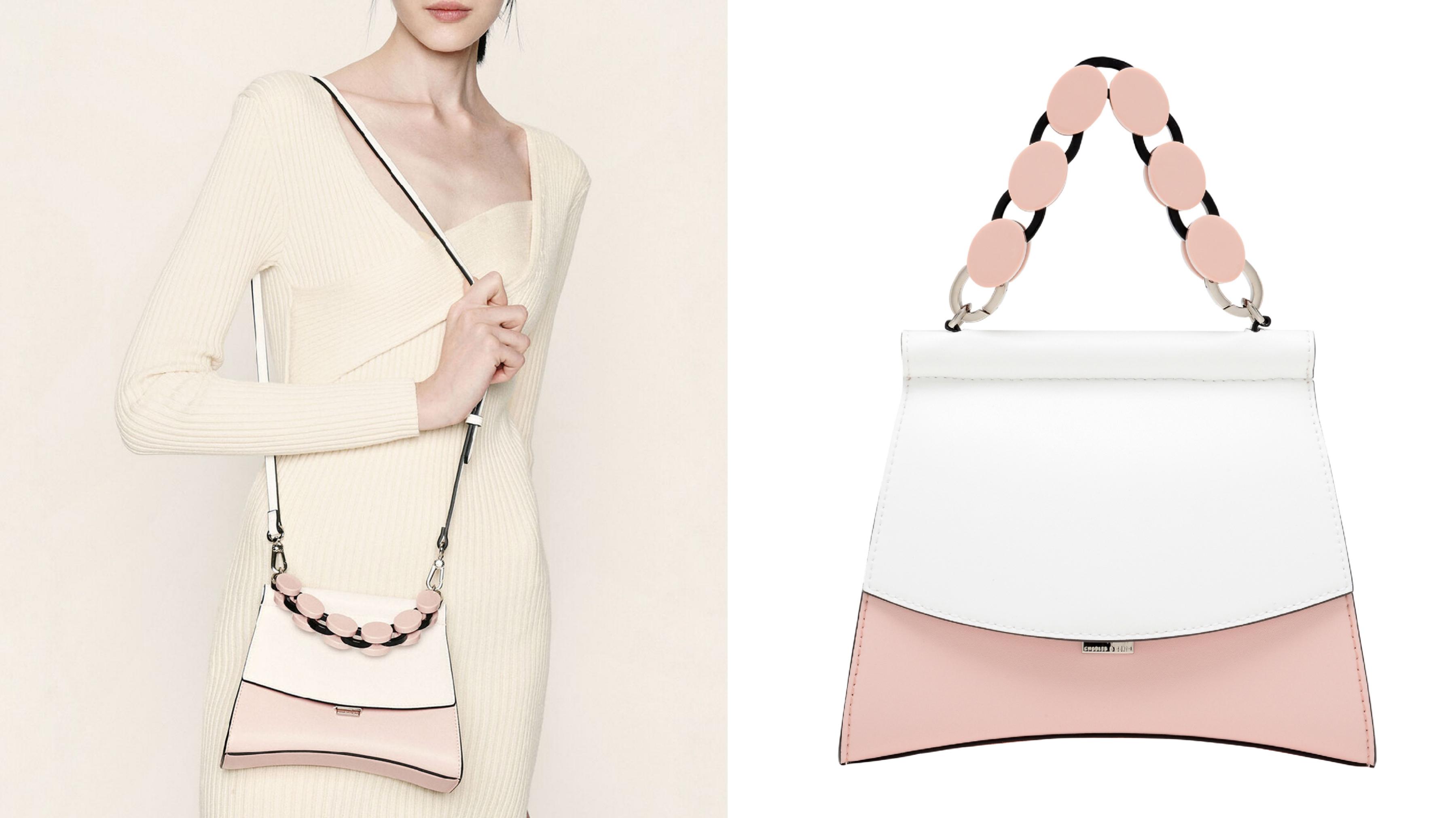 淡粉色與白色的搭配運用展現甜而不膩的風格