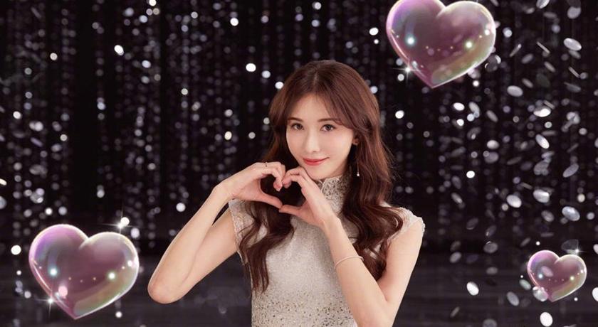 林志玲520秀出示愛圖,要大家不要忘記好好說愛,不過被網友嫌背景老派。