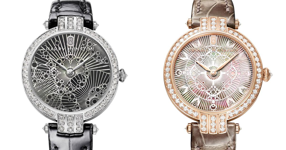 """有著 """"鑽石之王"""" 美譽的海瑞溫斯頓所推出的新錶款「Lace」,分別以蕾絲與珍珠母貝等兩大元素各以獨特方式詮釋女性魅力"""